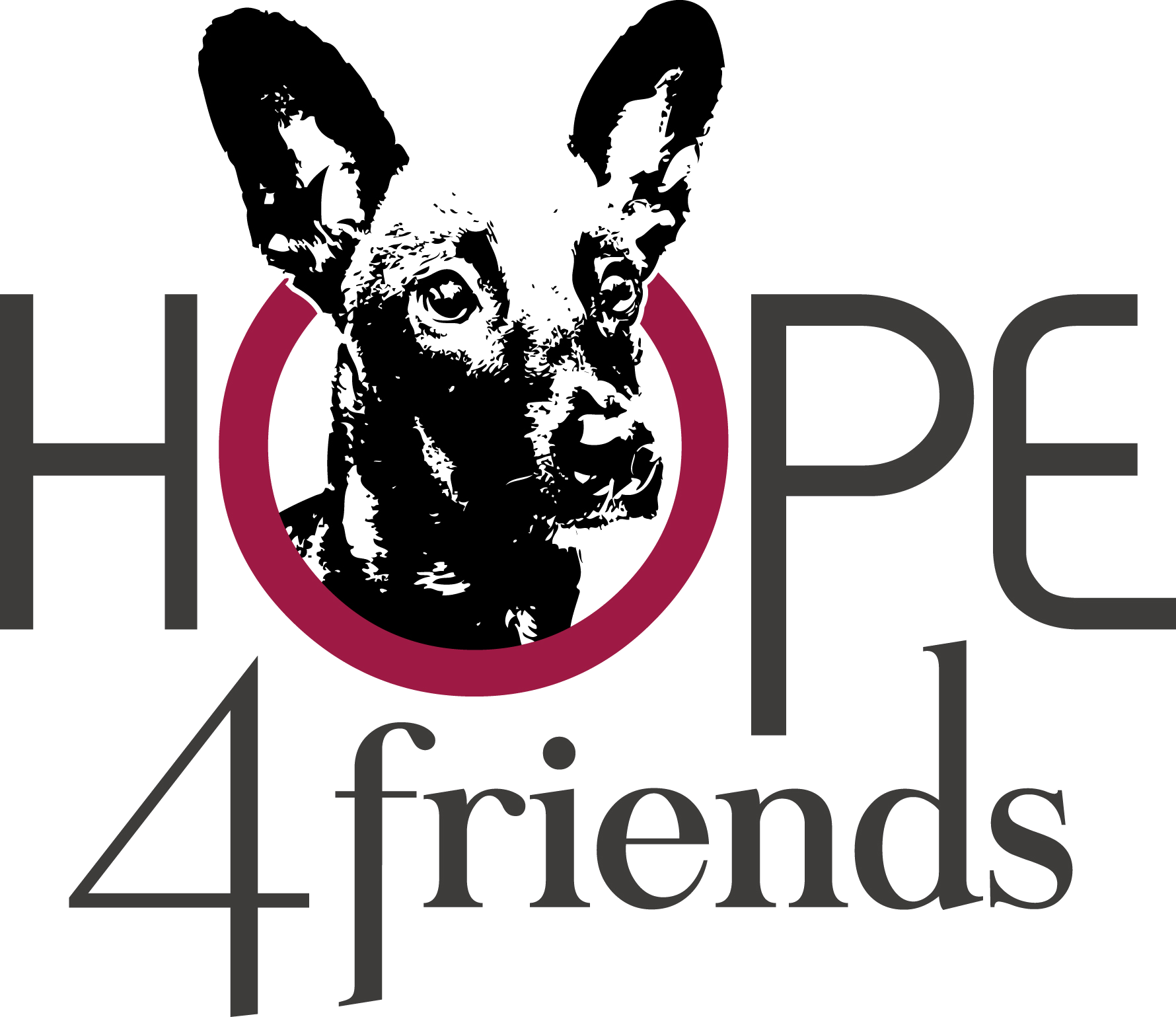 Hope 4 Friends - Logo V3b Transparent - RGB